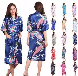 Silk Satin Long Robe Kimono Bridal Bridesmaid Dressing Gown