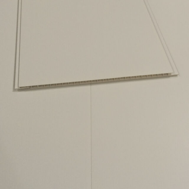 Matt White 3m Long Decor Cladding Plastic Bathroom Wall