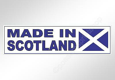 Scottish car bumper sticker Made In Scotland. 220 mm decal for Scots with flag