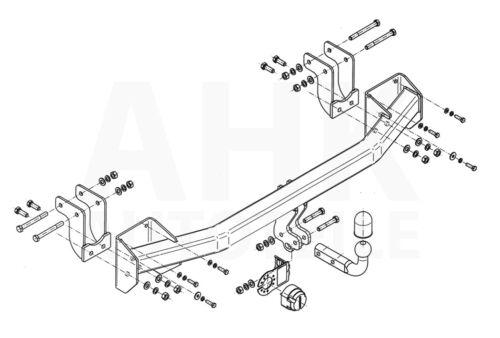 AHK Kpl. Für Mitsubishi Outlander ab 12 Anhängerkupplung starr+ES 13p spez