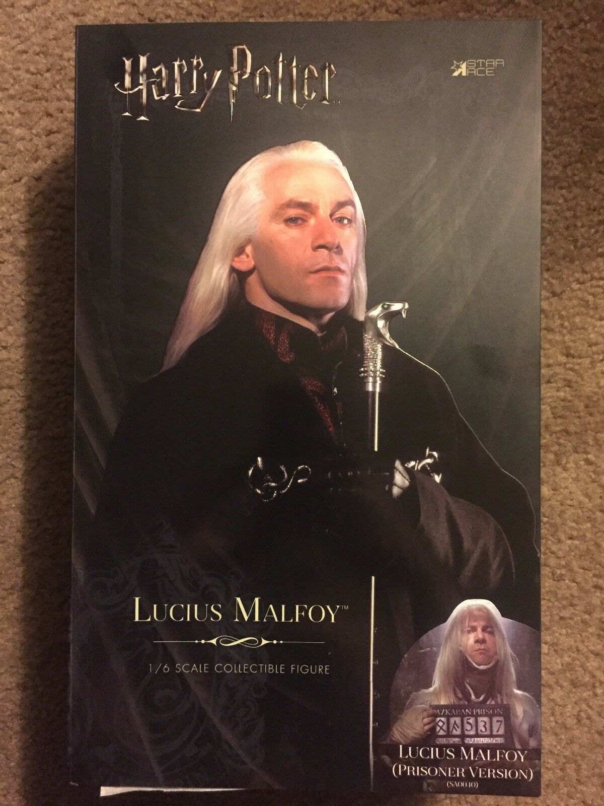New Star Ace Harry Potter 1 6 Scale Lucius Malfoy Prisoner Version Figure