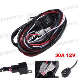 led fog light bar wiring harness kit extension wire fuse relay rh ebay com