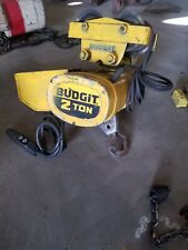 Budgit 2 Ton Chain Hoist Model Beh0208 With Pendant Control And Trolley