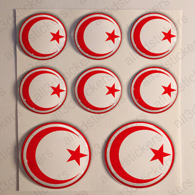 Italy Air Force Stickers Roundel Cockade 3D Adhesive Flag Resin Domed