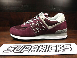 new balance burgundy uomo