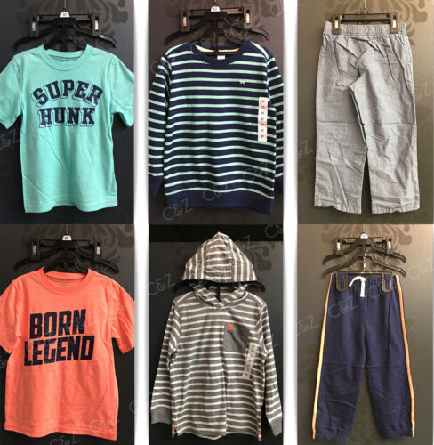 NWT Carters Toddler Boy Hooded 3 Piece Short-Long Sleeves Size 4T 5T Hunk Legend