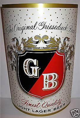 Old Stock Griesedieck Store Window Bottle Beer Sign