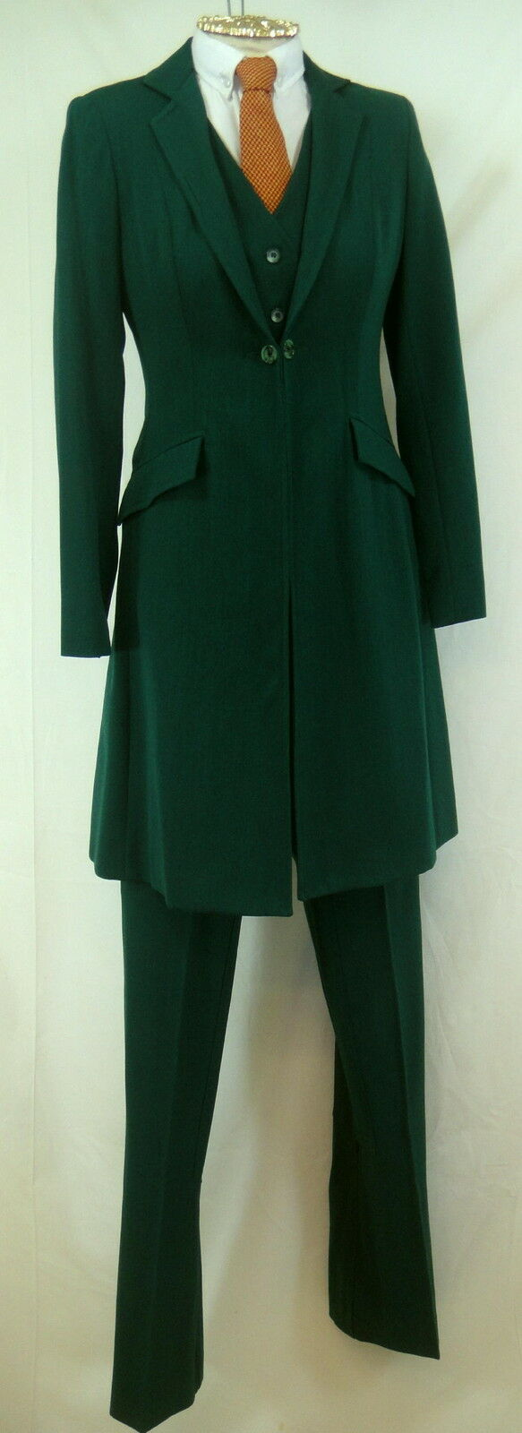 Reed Hill Saddleseat Ld 3p suit Hunter Herringbone Wool  Blend s8