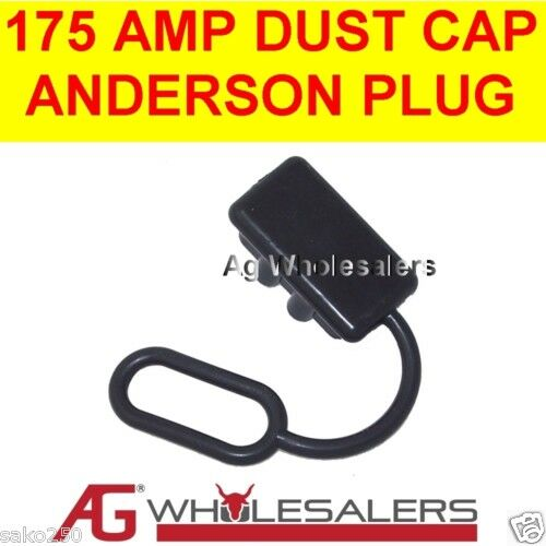 175 AMP DUST CAP COVER BLACK ANDERSON PLUG DUAL BATTERY 175a