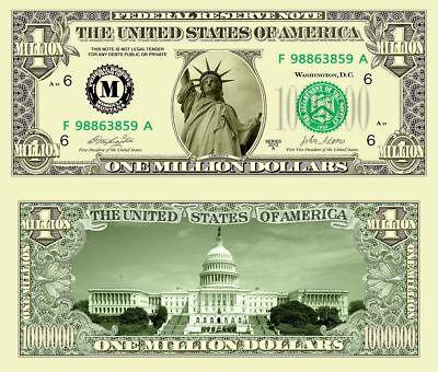 Harry Potter Million Dollar Bill Fake Play Funny Money Novelty Note FREE SLEEVE