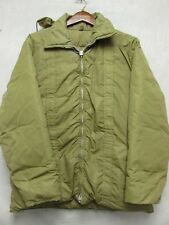 V5866 Pioneer Ski Wear Olive Zip Up 70's Down Hooded Jacket Men's L