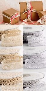 Quality-Cotton-Crochet-Vintage-Style-Lace-Ribbon-6mm-15mm-22mm-Wedding-Cards