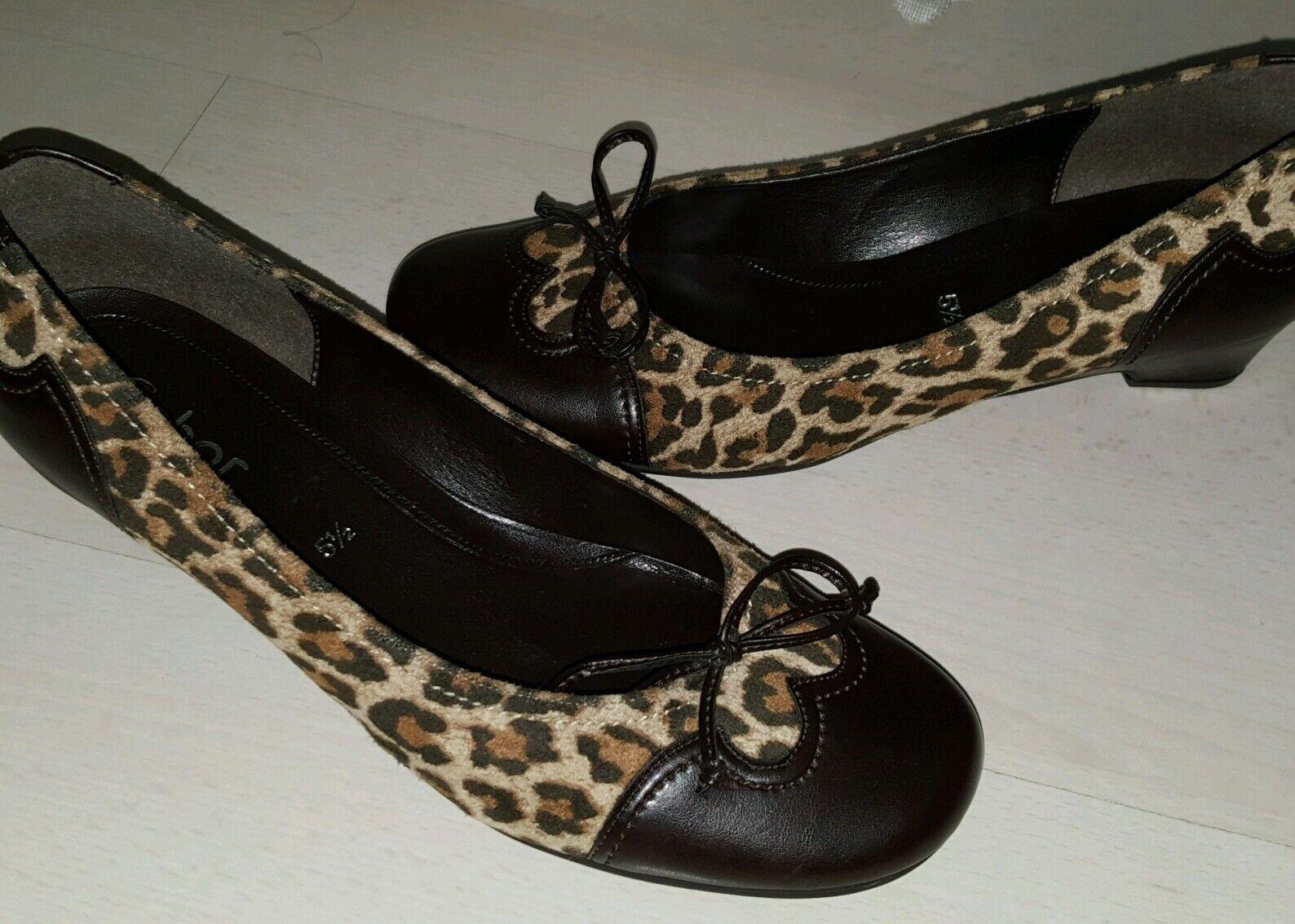 Gabor Damen Schuhe gr. 5,5/ 38 1/2 Leoprint Leder neu