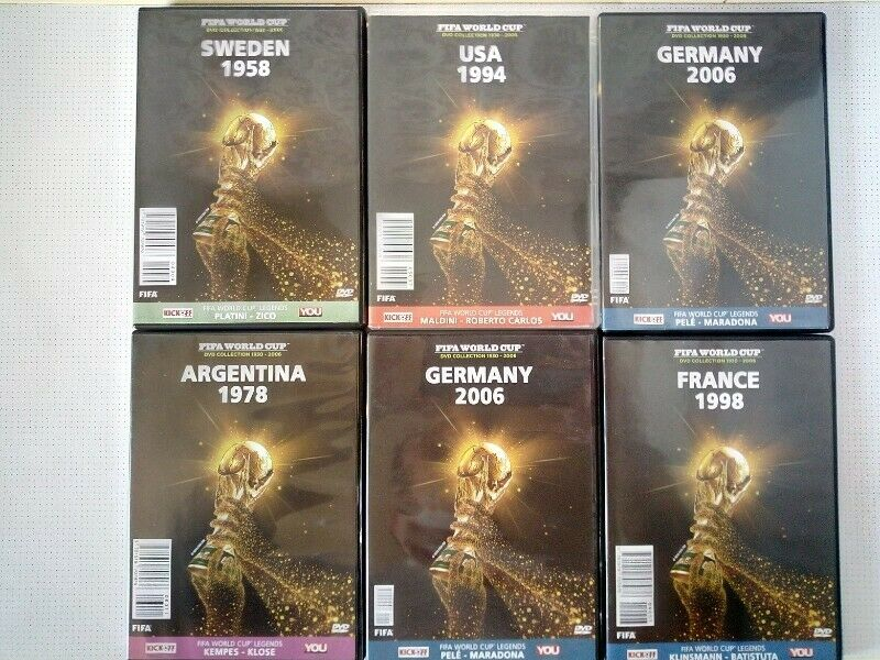 FIFA World Cup DVD Collection 1930 - 2006. See Picture for more info. R60 per disk.