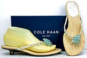 Cole-Haan-Womens-Sandals-size-7-5-B-Thong-Kitten-Heel-Slides-MO22