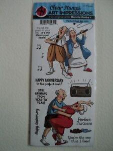 """Hampton Art Art Impressions Bonnie Krebs Clear Stamp Set """"Perfect Duet"""" Entièrement neuf sous emballage-afficher le titre d`origine S1rZ1Tsp-07195606-162494975"""