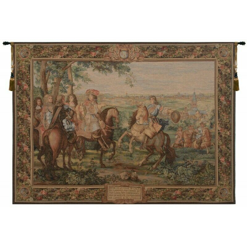 La Prise de Lille French Tapestry Wall Hanging