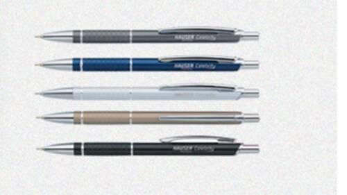 5x Hauser Celebrity Desiger Metal Ball PenBLUE Smoothest Writing Pen|