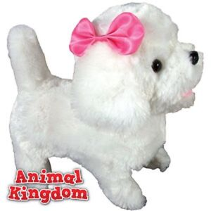 Electronic Walking Dog Toy with Lead Walks, wags, barks  toy girl boy 3+ Poodle