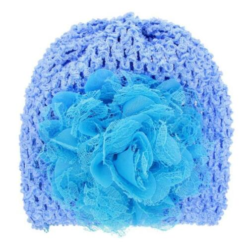 Toddlers Infant Baby Girl Hats Floral Beanie Warm Hollow Out Hat Headwear Hat