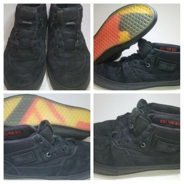RARE VANS x Metallica Half Cab PRO Black Leather Mens 12 Shoes KILL EM ALL