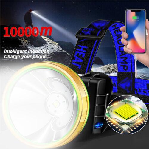 1200000LM T6 LED Headlamp Headlight Torch Rechargeable Flashlight USB Work Light
