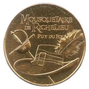 Mini-Medaglia-Souvenir-Moneta-di-Parigi-2019-Moschettiere-Brogue-Puy-Del
