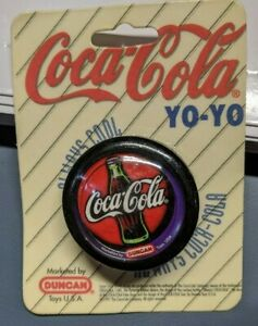 Coca-Cola-Yo-Yo-1997-Black-purple-Vintage-Coke-Bottle-Duncan-Bottle-Always