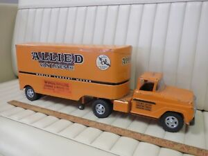 1959-TONKA-Transport-034-Allied-Van-Lines-034-Moving-Truck-Trailer-Pressed-Steel-Toy