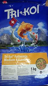 Tri Koï Futtermix 15° - Nourriture Pour La Chaud Saison 4,5 Mm 5 Kg