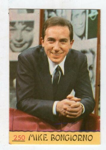 figurina numero 250 MIKE BONGIORNO CANTANTI PANINI 1968