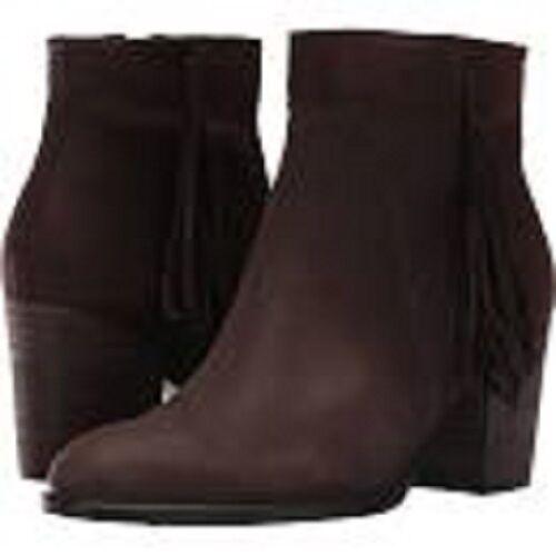 New Ecco ~ Art to Wear ~ Shape 55 Coffee Suede Low Cut Zip Ankle Boots ~ 40