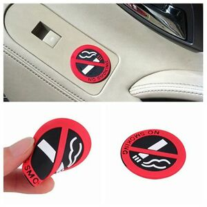 1-3-5-10PCS-Window-Self-Adhesive-3D-Car-Stickers-No-Smoking-Sign-Rubber-Decal