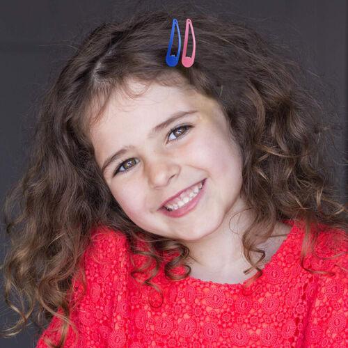80Pcs Kids Girls Snap Bendy Clips Sleeping Side Grip Clip Pins Hair Accessories