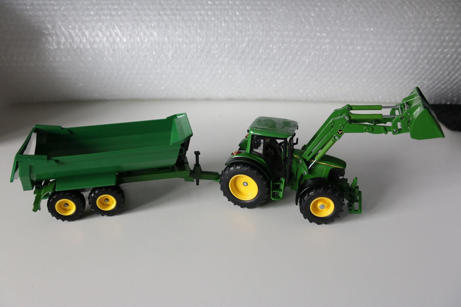 Siku Farmer  Traktor mit Frontlader Frontlader Frontlader u. Muldenkipper  1 32 OVP   3+  Metall u.Pl. b1faac