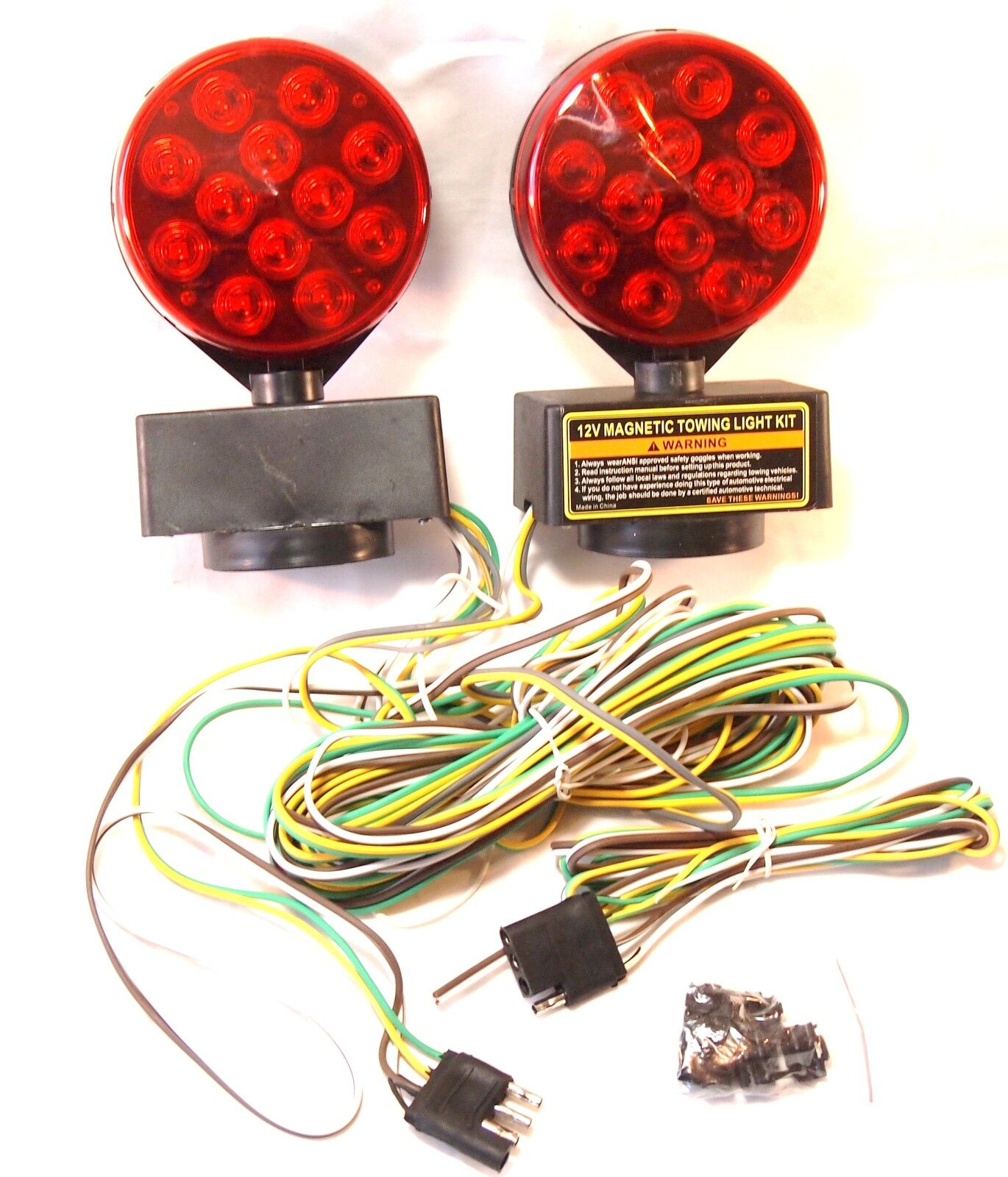 Wrecker Parts Magnetic Wiring Harness Diagram Detailed Trailer Lights 12v 24 Led Towing Light Kit Ebay Norton Secured Powered By