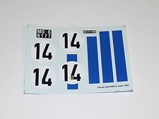 1/24 decals sheet Tecnomodel Ferrari 250 SWB Le Mans 1961 Car #14       #123