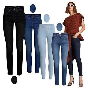 Jeans Para Mujer Celebridad Smart Elastizado Pantalon Skinny Denim Spandex Jeans 8 18 Ebay