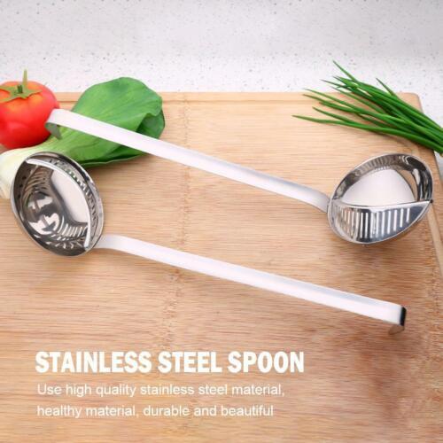 Stainless Steel Long Handle Hot Pot Spoon Kitchen Soup Scoop Colander Strainer