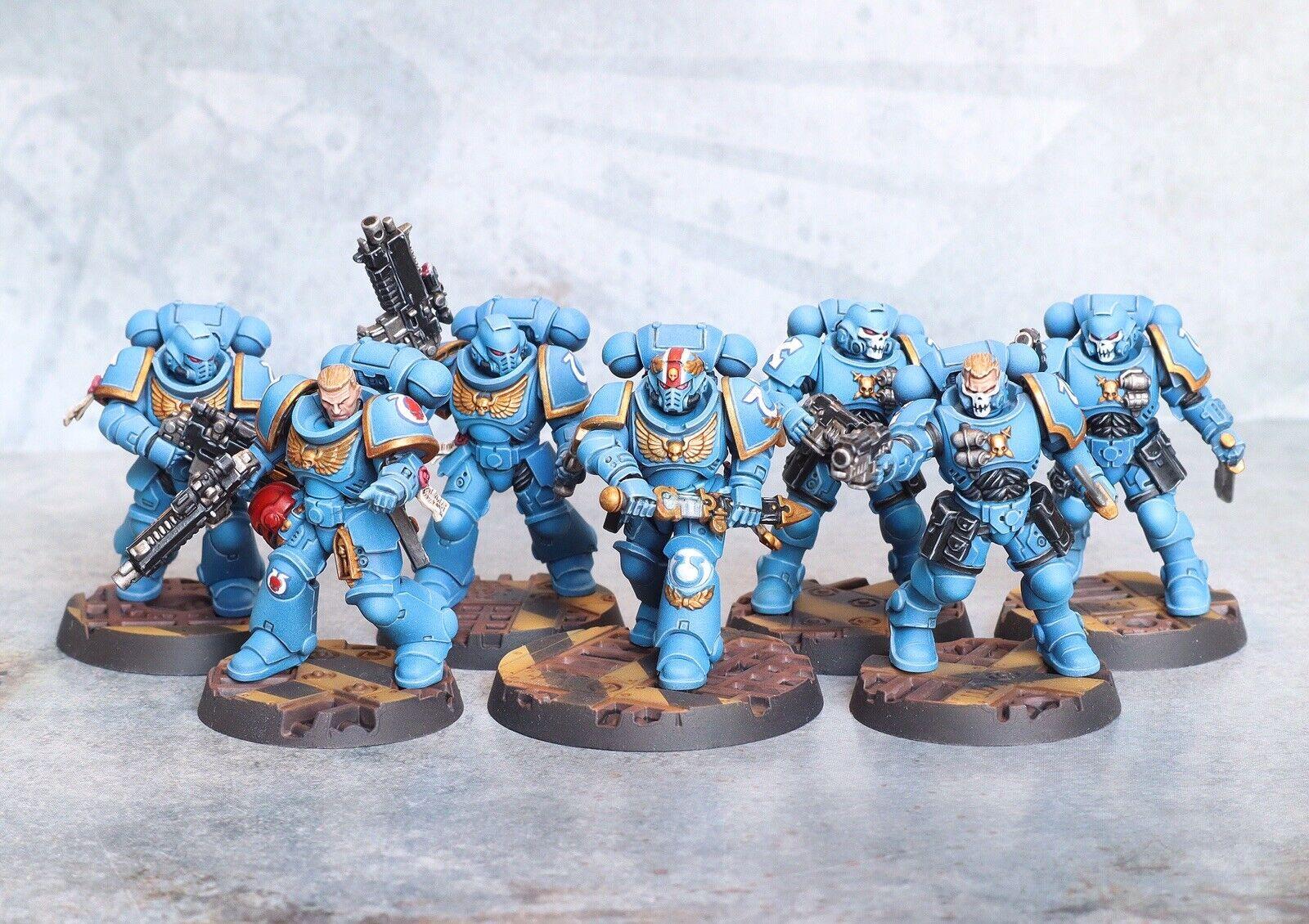 Primaris Intercessors Reivers Space Marines Kill Team -Pro Painted, Ultramarine