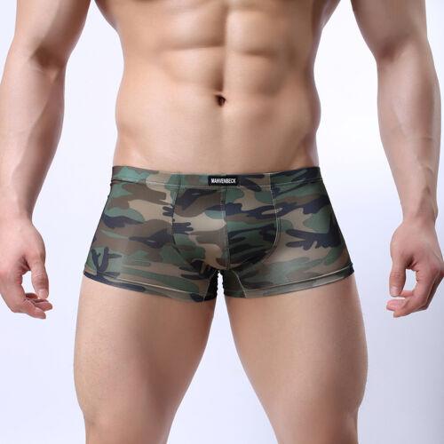 Men/'s Camouflage Boxer Underwear Casual Boxers Briefs Shorts Trunks Underpants