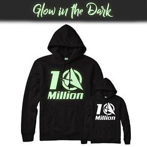 con In da Youtuber migliore cappuccio dollari con The felpa la nera Glow Una Inspired felpa Dark 10 cappuccio di milioni tqPaEz