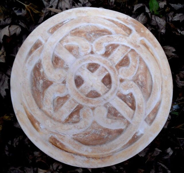 "10.5"" x 1.25"" plastic stepping stone celtic knot mold plaster concrete mould"
