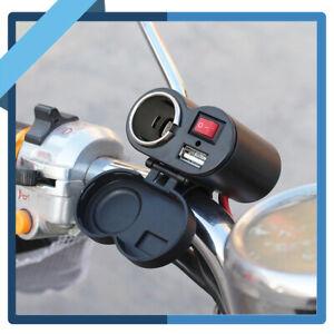 Motorcycle-Cigarette-Lighter-Socket-Power-Plug-Outlet-Holder-Fuse-Waterproof-12V