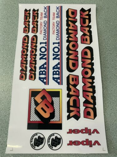 Diamondback Viper 1984 Decals Sticker Set Suit Your Old School BMX