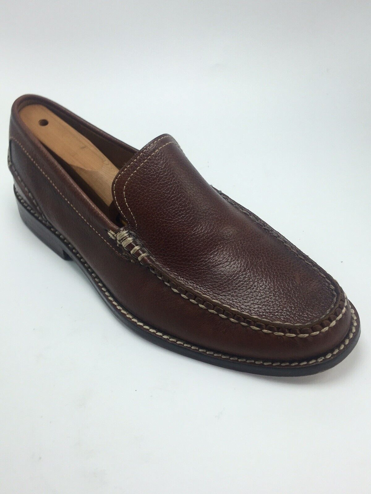 Sperry Top Sider Mens gold Cup Brown Leather Slip On Loafer Men shoes Size 8.5 M
