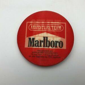 """Vtg Marlboro Tobacco Cigarette Advertising """" Flicker Lenticular Button Pin   M7"""