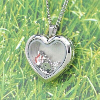 Welsh Corgi Tear Floating Locket Necklace Dog Memorial Jewelry