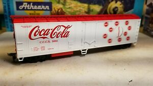 Athearn-HO-Coca-cola-50-039-refrigerator-boxcar-reefer-Coke-box-car-for-train-set