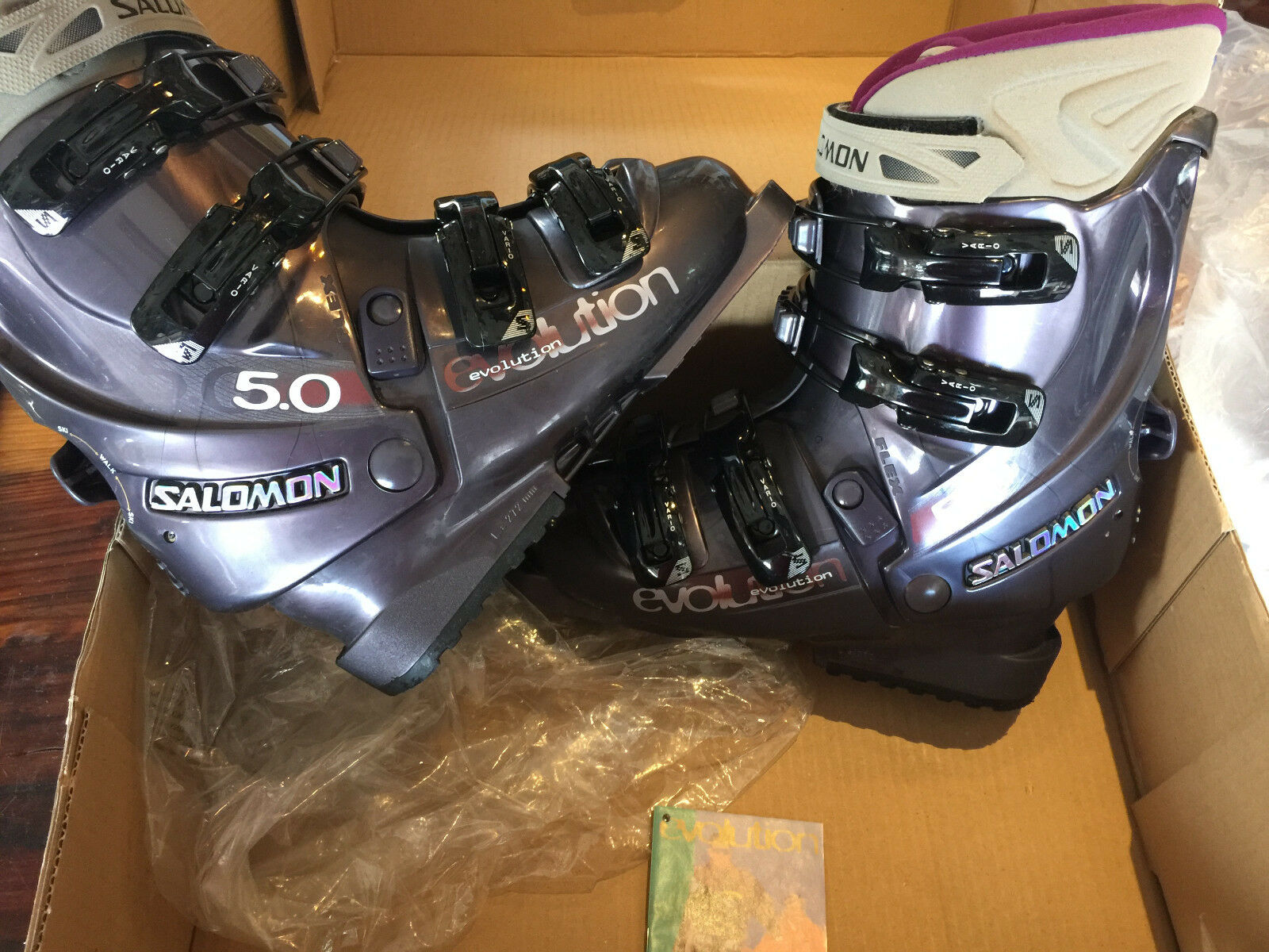 Salomon Evolution 5.0 Lady Women's Downhill Ski Skiing Boots Size 23.5 US 6-6.5